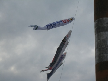Carp streamers at the Hokkaido Mill in Asahikawa