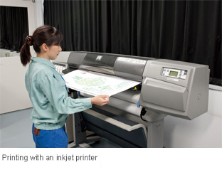 Printing with an inkjet printer