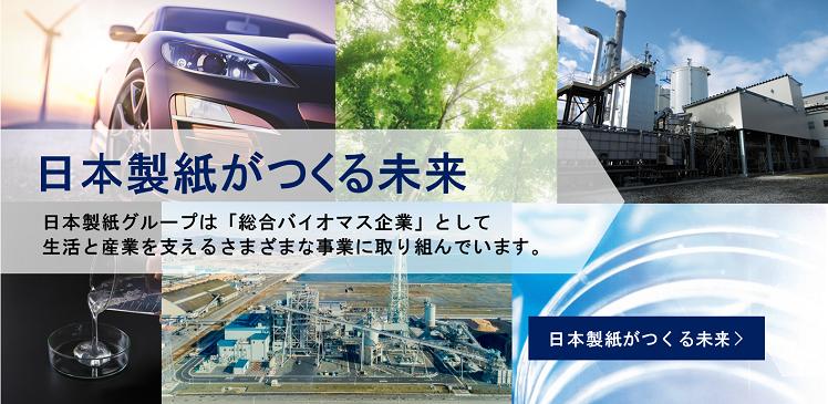 「木」の持つ可能性を追求 日本製紙グループは「総合バイオマス企業」として生活と産業を支えるさまざまな事業に取り組んでいます。 日本製紙がつくる未来