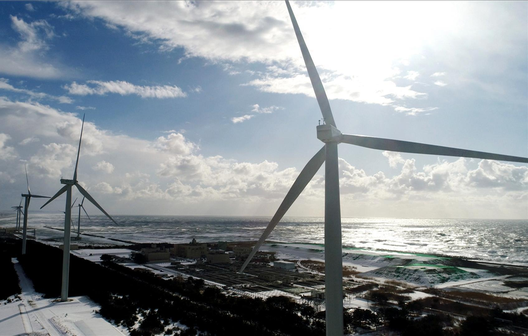 Nippon Paper Industries Holds Completion Ceremony For Wind Power Generation Facility