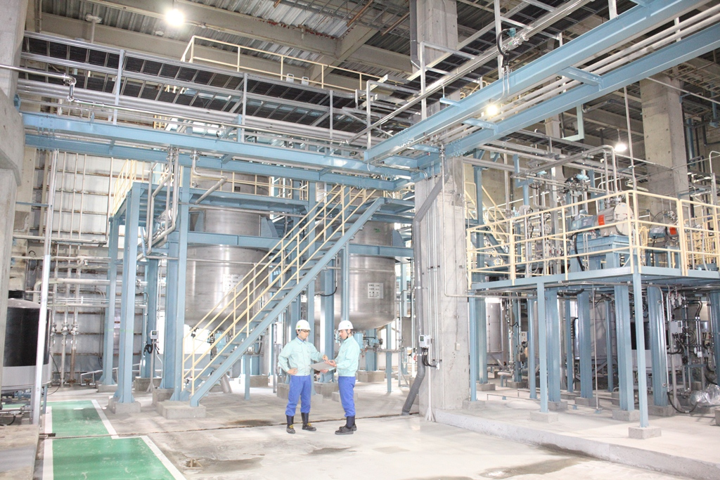 The large-scale CNF production facility at the Ishinomaki Mill 1