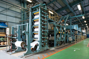設備仕様 抄紙速度:15~50m/min 抄紙坪量:25~300g/m2